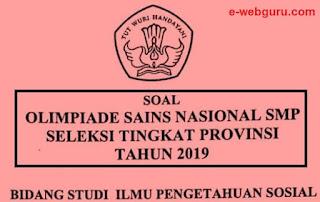 soal OSN IPS SMP