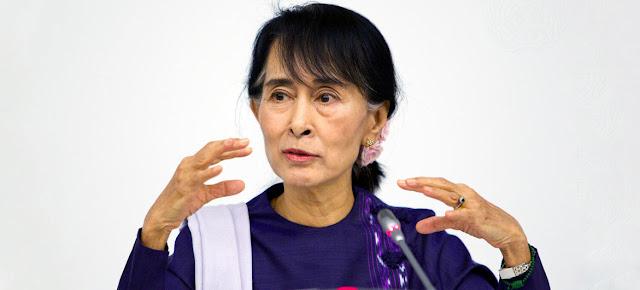 Aung San Suu Kyi, Secretaria General del partido político Liga Nacional para la Democracia de Myanmar, durante una reunión en las Naciones Unidas en Nueva York. Foto de archivo.ONU/Rick Bajornas