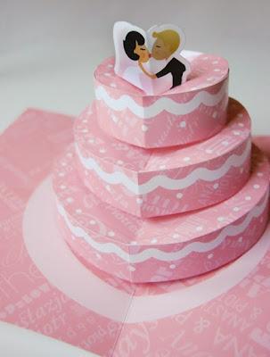 pastel de bodas tarjetas