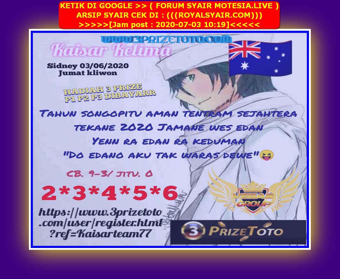 Kode syair Sydney Jumat 3 Juli 2020 37