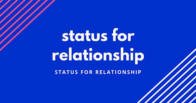 status for relationship