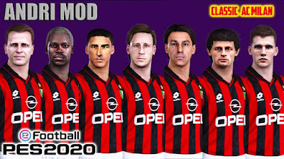 PES 2021 Classic FacePack AC Milan by Andri Mod