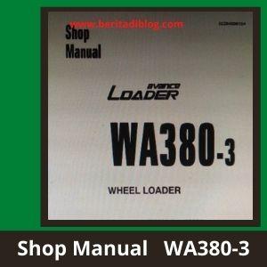 Komatsu wa380-3 wheel loader shop manual