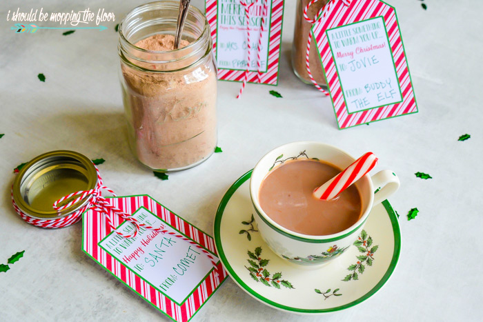 Free Printable Gift Tags for Hot Cocoa Mix