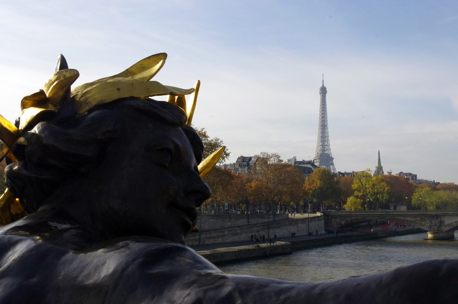 Eiffel Tower from Bridge in Paris