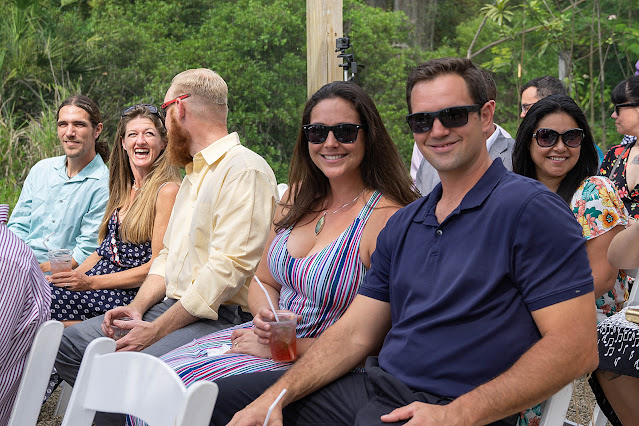 wedding guests at Shadowood Farms wedding in Palm City Florida photo by Houghton Photography