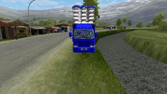 mod truck bussid canter wahyu abadi muatan beras overload
