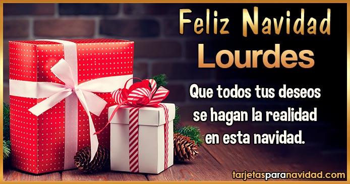 Feliz Navidad Lourdes