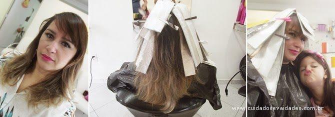 corrigir a cor dos cabelos loiros ou descoloridos