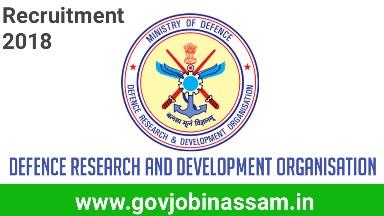 DRDO recruitment 2018, drdo job 2018, govjobinassam