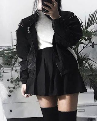 Outfit gótico tumblr para adolescentes