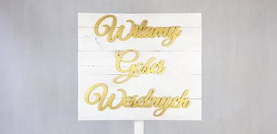 tabliczka witamy gości weselnych wypożyczalnia dekoracji rzeszów ślubnażyczenie