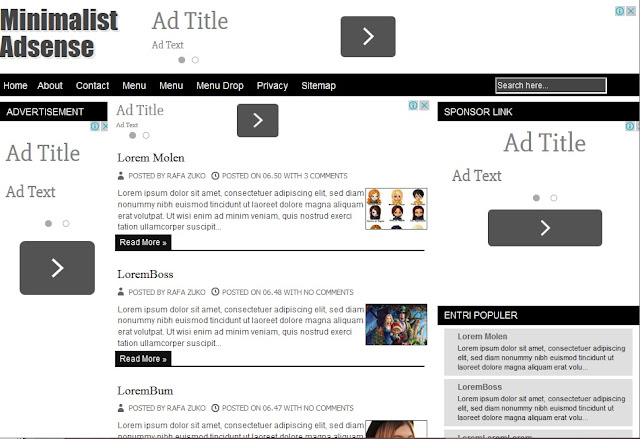 adsense blogger template