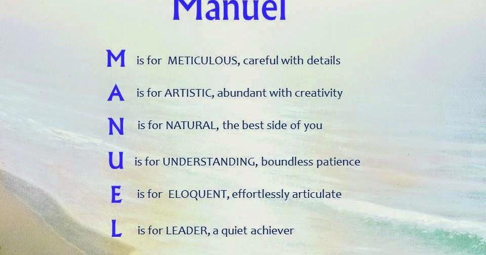 Manuel Acrostic Name Poems For Boys
