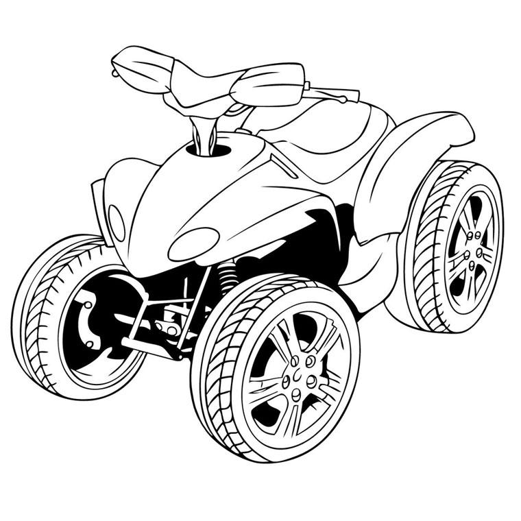 coloring pages of a four wheeler | KD QUAD RANDO: Occupez vos enfants... Dessins de quad à ...