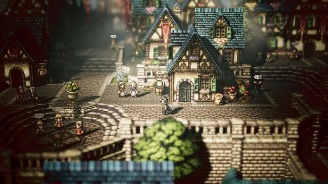Octopath Traveler — Role-playing game from the creators of Bravely Default. The plot of the game tells the story of the adventures of eight different characters in the fantasy world of Orsterr.