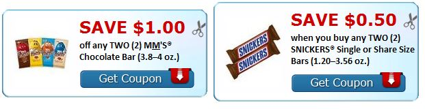 print mm's or snickers couponing