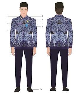 pakaian korpri pns laki-laki 2020