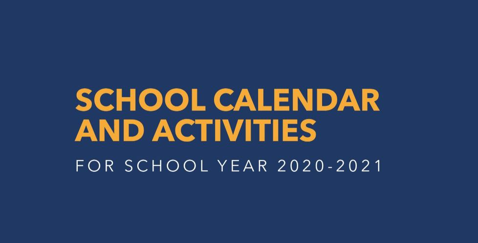 DepEd releases school calendar for SY 2020-2021