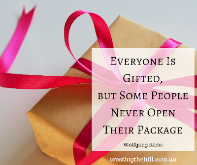 Wolfgang Riebe — 'Everyone is gifted - but some people never open their package'