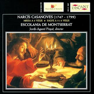 Narcís Casanoves: Missa A 6 Veus / Salve A 5 I 6 Veus