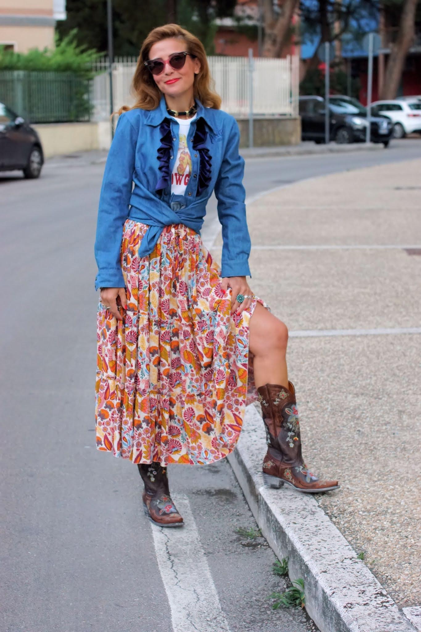 Urban country style: ruffle shirt