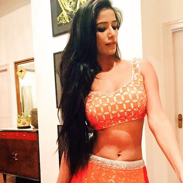 Poonam Pandey navel show picture