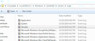 Lokasi Penyimpanan Log File Windows