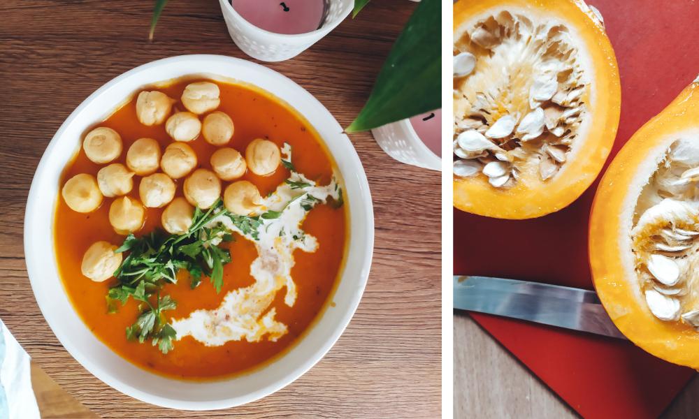zupa krem, dynia, batat, słodkie ziemniaki, fit przepis, zdrowy posiłek, zupa z dyni, zupa krem z dyni, pikantna zupa dyniowa, zupa dyniowa, przepis, fit przepis, szybkie dania, danie na każdą kieszeń