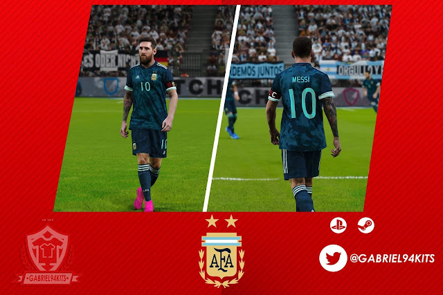 PES 2020 Argentina Kit Away 2020 by Gabriel94