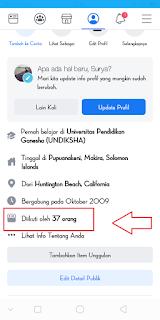 Cara Melihat Orang Yang Mengikuti kita Di FB Android