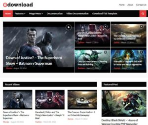 Video Download Blogger Template Free Download