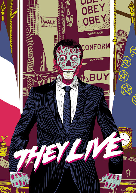 emmanue macron portrait officiel they live john carpenter gwen tomahawk