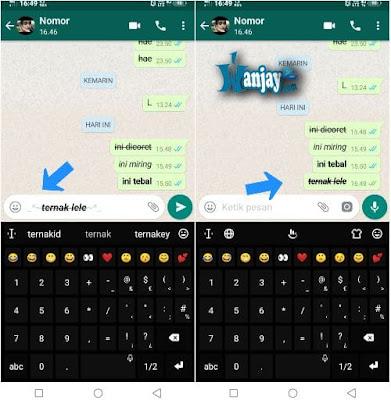 terkadang kita menjadi bosen sebab bentu tulisan huruf di whatsapp gitu 10 Cara Mengubah Bentuk Tulisan di Whatsapp [Keren] | Mengmengganti Font WA