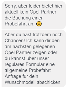 Maue User-Experience mit Opel-Chatbot Chad.