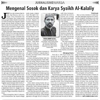 Jejak Syaikh Al-Kalaliy di Lhokseumawe, Pencetus Majalah Islam pertama di Nusantara