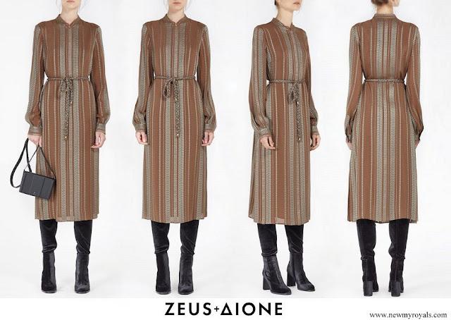 Queen Maxima wore Zeus+Dione Hera midi textured silk dress