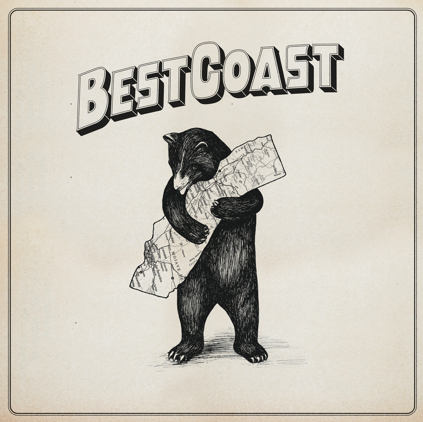 love is a four letter word album cover - indie blog shot best coast a review of the only place