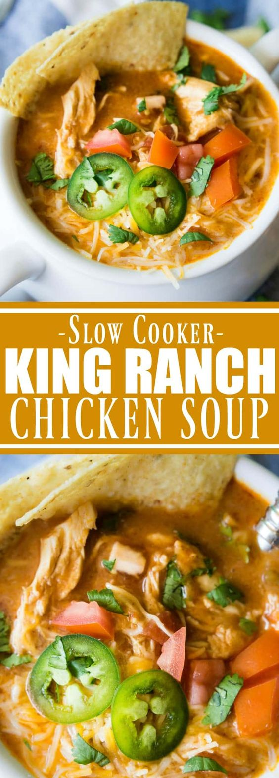 Slow Cooker King Ranch Chicken Soup Recipe