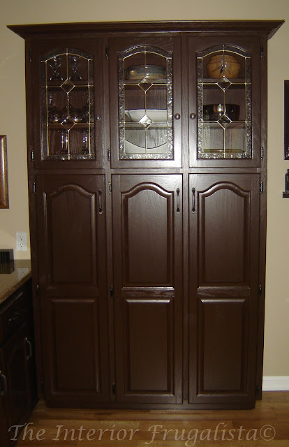 China Cabinet repurposed into a pantry