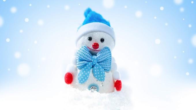 Linda Imagem de Natal Boneco de Neve