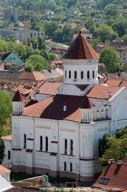 Grand view of the Cathedral of the Theotokos in Vilnius, the main Orthodox Christian church