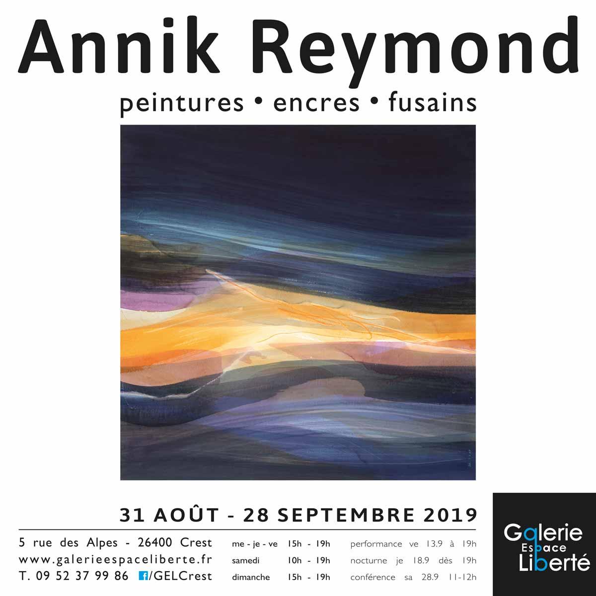 Exposition Annik Reymond Galerie Espace Liberté Crest