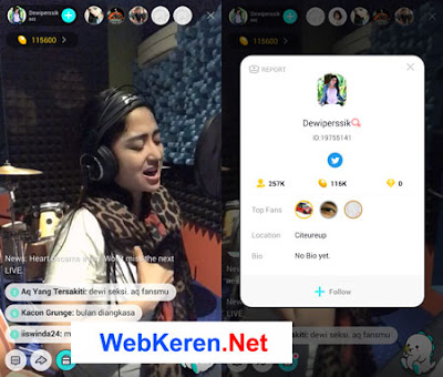 bigo live streaming android artis hot Dewi Perssik