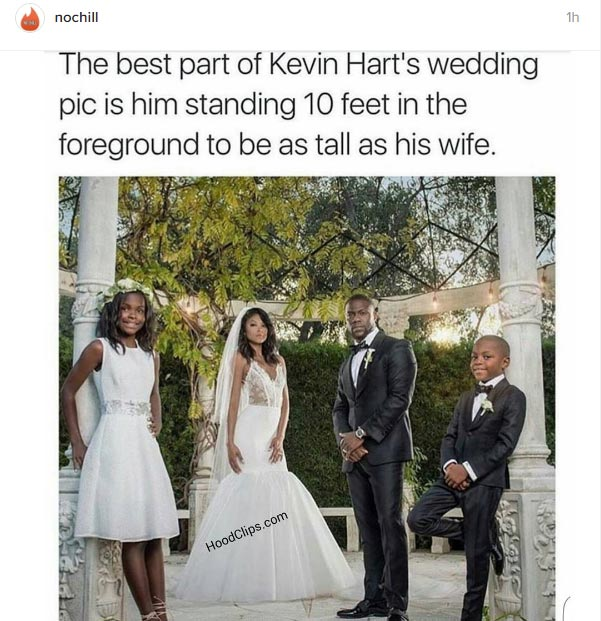 Lol. Wicked social media users troll Kevin Hart over his wedding photos