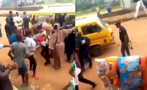 SARS Officers Stopped By Ikorodu Residents Over Illegal Arrest Of A Young Man They Accused Of Being A Yahoo Boy - See Video