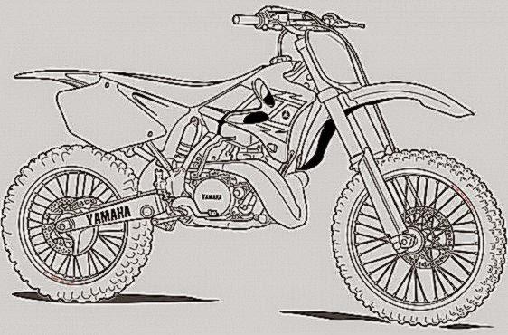 Dirt Bike Coloring Sheets Printable (7 Image)