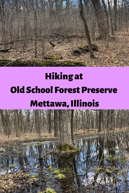 Hiking at Old School Forest Preserve in Mettawa, Illinois