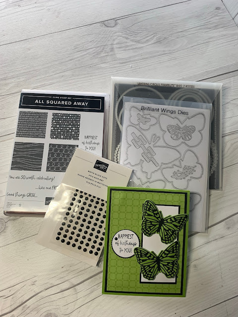 Stampin' Up! Items used to create a handmade birthday card