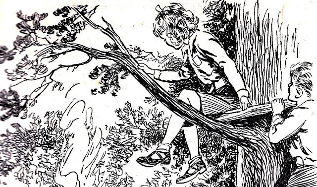 A Bertram Prance illustration for The Neglected Mountain by Malcolm Saville (detail)